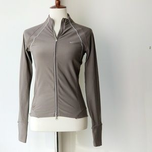 Nike For Dry Olive Green Zip Front Jacket
